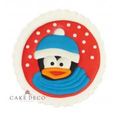 Handmade plaquette topper 'Snowed Penguin'