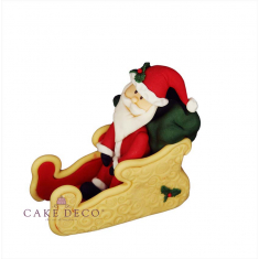 Handmade sugarpaste Topper 'Santa on a Sleigh'