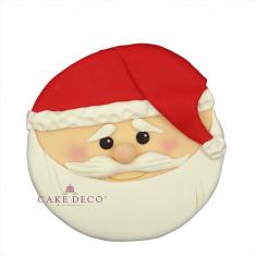 Handmade sugarpaste plaquette topper 'Santa Clauss'