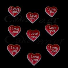 Καρδιές με σχέδιο 'I love you'. Σετ 9/1