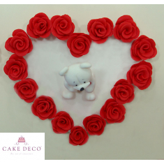 Rose Bear Heart Plaquette
