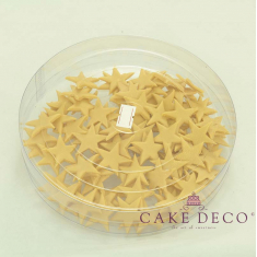 Cake Deco Large Gold Stars 3cm (10pcs)