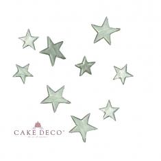 Cake Deco Silver Stars Large 3cm (10pcs)