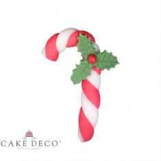 Χριστουγεννιάτικο Μπαστουνάκι  Ζαχαρόπαστας με Λευκές Κόκκινες λωρίδες - Συσκ.25τεμ.