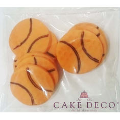 Sugarpaste Basketballs 3cm. 6pcs