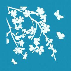 Τελευταία μέρα του Φθινοπώρου - Μικρό Δικτυωτό Στένσιλ