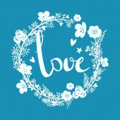 Έρωτας - Μικρό Δικτυωτό Στένσιλ