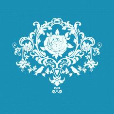 Vintage Rose Small Mesh Stencil