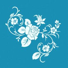 Χειμωνιάτικο Τριαντάφυλλο - Μικρό Δικτυωτό Στένσιλ