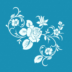 Winter Rose Small Mesh Stencil
