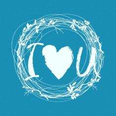 Σε Αγαπώ - Μικρό Δικτυωτό Στένσιλ