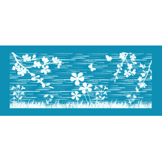 Flower Fields Large Mesh Stencil