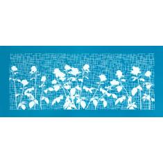 Λουλούδια τα μεσάνυχτα - Μεγάλο Δικτυωτό Στένσιλ