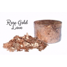 Rose Gold Love Edible Flakes