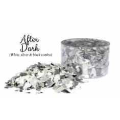 After Dark Black White  Silver Edible Flakes