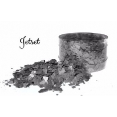 Jet Set Black Edible Flakes