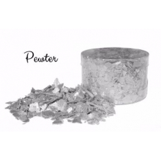 Pewter Silver Edible Flakes