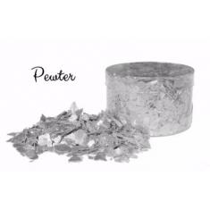 Pewter Silver Edible Flakes