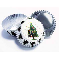 Θήκες αλουμινίου για Cupcakes Χριστουγεννιάτικο Δέντρο - 30 Τεμ
