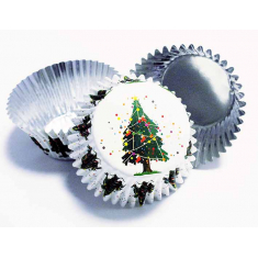 Christmas Tree Decorative Foil Baking Cups (Pk 30)