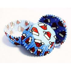 Θήκες αλουμινίου για Μίνι Cupcakes Σκούφος του Άι Βασίλη - 100 Τεμ