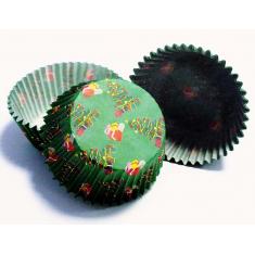 Καραμελόχαρτα για Cupcakes Χριστουγεννιάτικα Δώρα - 60τεμ