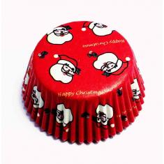 Θήκες αλουμινίου για Cupcakes Άγιος Βασίλης  - 60τεμ.