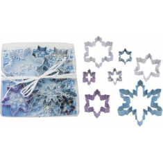 Snowflake Color Cutter Set 7Pc