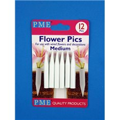 Medium Flower Picks Pk.12