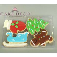Κουτί πλαστικό διαφανές για μπισκότα & πλακέτες 21x14xY2εκ.