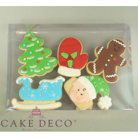 Clear Plastic Box for Cookies & Plaquettes 23,8x16,7xY4cm.