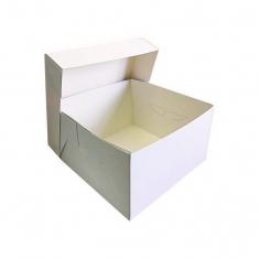 Λευκό ποιοτικό κουτί μεταφοράς τούρτας 38x38xY15,2εκ.