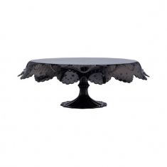 Papillon Large Black Transparent Cake Stand ø 280 x H120mm