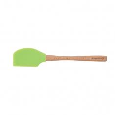 Πράσινη Σπάτουλα σιλικόνης με ξύλινη χειρολαβή