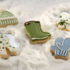 Winter  Theme Plunger Cutter Set 4Pcs
