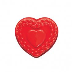 Φόρμα Σιλικόνης της Pavoni για ψήσιμο κέικ σε σχέδιο καρδιάς με πλεξούδες