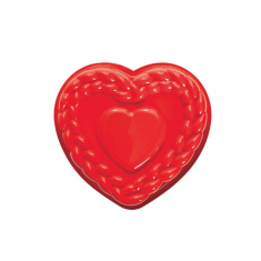Braid Heart Cake Silicone Mold by Pavoni