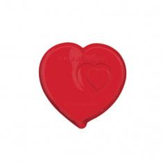 Φόρμα Σιλικόνης Καρδιάς της Pavoni για ψήσιμο κέικ