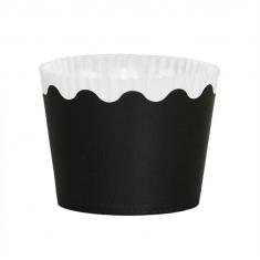 Κυπελάκια Cupcakes με καραμελόχαρτο Μικρά Δ5,7xΥ4εκ. - Μαύρο 65τεμ