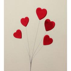 5 Καρδιές απλές στα Σύρματα - Σετ 15τεμ.