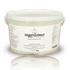 Sugarlicious Sugar Paste ready to Roll White 6kg.