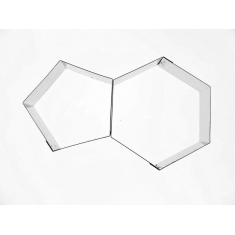 INOX Κουπάτ για Μπάλα Ποδοσφαίρου Εξάγωνο και Πεντάγωνο - 15,5 εκ.
