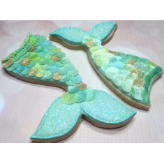 Mermaid Tail Cookie Cutter 4.5in
