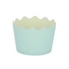 Κυπελάκια Cupcakes με καραμελόχαρτο Μικρά Δ5,7xΥ4εκ. - Γαλάζιο - 20τεμ