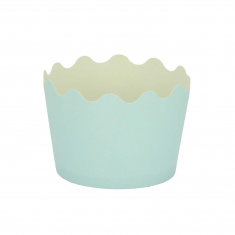 Small Cupcake Cups with anti-stick Baking Sheet D5,7xH4cm. - Light Blue - 20pcs