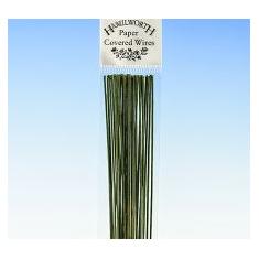 Νο.24 Πράσινα Σύρματα Λουλουδιών 50 τεμ.