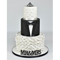 FMM Curved Words -Mr & Mrs