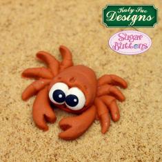 Καλούπι Σιλικόνης της Katy Sue - Κάβουρας και ψαράκι (Crab and Fish Sugar Buttons)