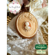 Καλούπι Σιλικόνης της Katy Sue - Οβάλ Πλακέτα (Petite Fleur Oval Plaque)
