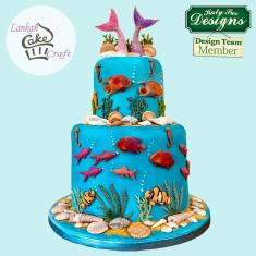Καλούπι Σιλικόνης της Katy Sue - Υπoβρύχιο σετ (Fish, Seaweed and Coral)